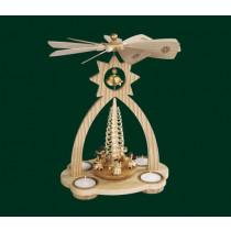 """Декоративна пирамида с камбанка """"Ангелски концерт"""", с поставки за свещи, 29см"""