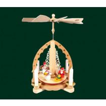 """Декоративна пирамида """"Снежко"""", с поставки за свещи, 27см"""