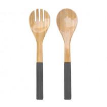Прибори за салата Grey, Albert L, бамбук, гланц, 2 части, 27.5 см