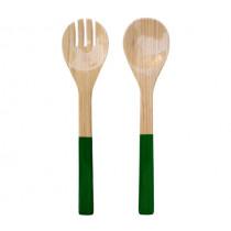 Прибори за салата Green, Albert L, бамбук, гланц, 2 части, 27.5 см