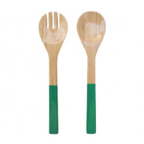 Прибори за салата Turquoise, Albert L, бамбук, гланц, 2 части, 27.5 см