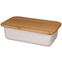 Кутия за хляб Capventure Save My Bread Coconut white, с дъска за рязане, бамбук и дърво