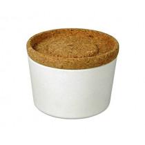 Кутия за съхранение Capventure Store & Stack Coconut white, 0.5 л, бамбук