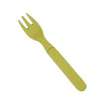 Виличка за торта Capventure Rainbow Lemony yellow, 13.5 см, бамбук