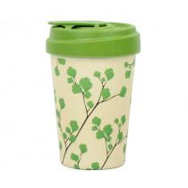 Чаша с капак Chic.mic BambooCup-Gingko, бамбук, 400 мл