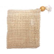 Торбичка за сапун Croll & Denecke, с функция тривка за баня, сизал
