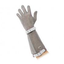Предпазна ръкавица ErgoProtect White, Fr. Dick, метална нишка, до лакът, размер S