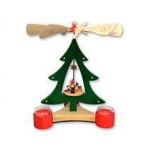 """Декоративна пирамида елха """"Джудже със сърна"""", с поставки за свещи, 28 см"""
