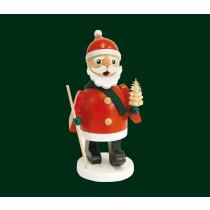 "Декоративна димяща фигура ""Дядо Мраз с елха"", 11 см"