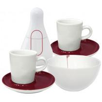 Сервиз за кафе и чай Kahla Five Senses Ruby, порцелан, 13 части