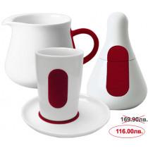 Сервиз за кафе и чай Kahla Five Senses touch! Red, порцелан, 4 части