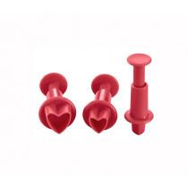 Деко кътъри за фондан и марципан Lurch Heart, комплект 3 бр.