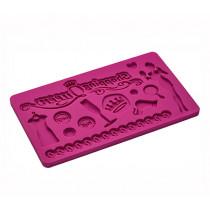 "Шаблон за сладкарски фигури Lurch Flexi® Form Decor Shopping Queen Cindy, тип ""килим"""