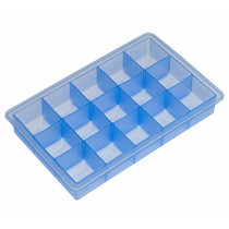 Форма за лед Lurch Ice Cube Ice blue, силиконова, 15 гнезда, 3 х 3 см