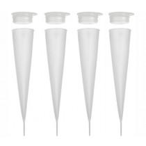 Фунии за сорбе и сладолед Lurch Sorbetière, силиконови, комплект 4 бр.