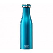 Термо шише Lurch Water Blue Metallic, неръждаема стомана, 0.5 л