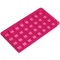 Форма за лед Lurch Ice Cube Fuchsia, силиконова, 32 гнезда, 2 х 2 см