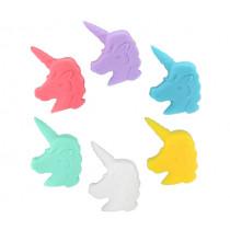 Маркери за чаши Winkee Unicorn , силиконови,  комплект 6 бр.
