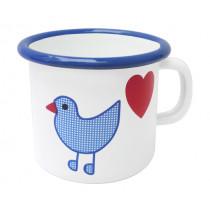 Емайлирана чаша канче Münder Email Bird & Heart