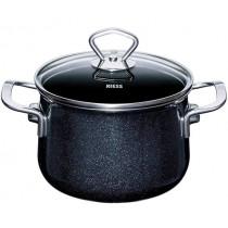 Готварска тенджера Riess Nouvelle Black, с капак, масивен емайл, Ø 16 см, 2 л
