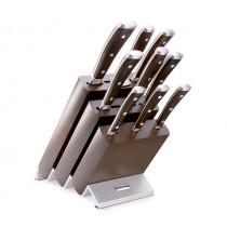 Комплект блок ножове Ikon, Wusthof Solingen, с 9 инструмента