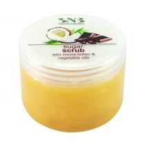 Захарен скраб за почистване на кожата SNB, с какаово и растителни масла, 400 мл