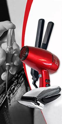 Ремонт на машинки за подстригване, сешоари и преси за коса